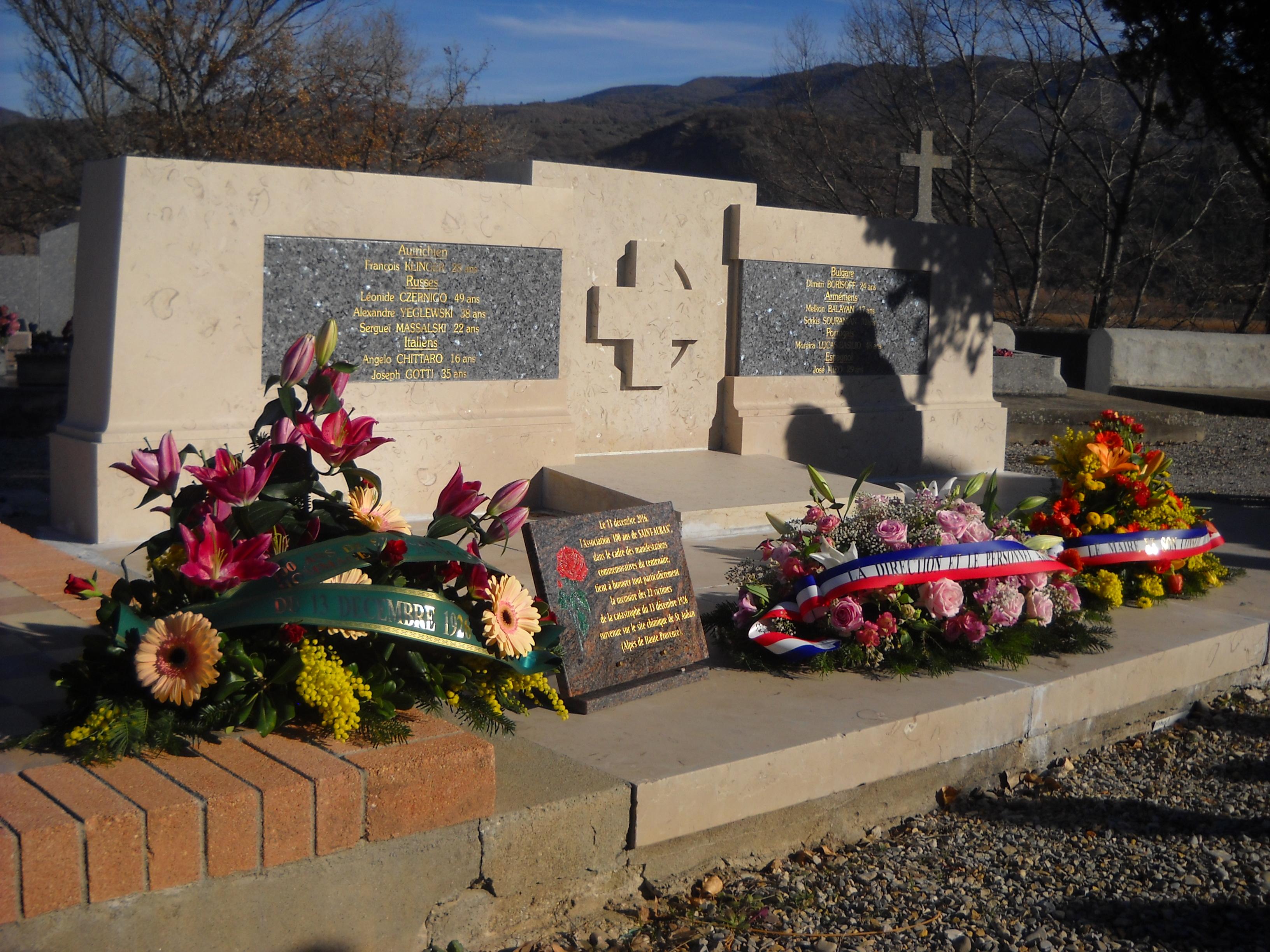 Commémoration émouvante de l'accident à l'usine de Saint-Auban en 1926