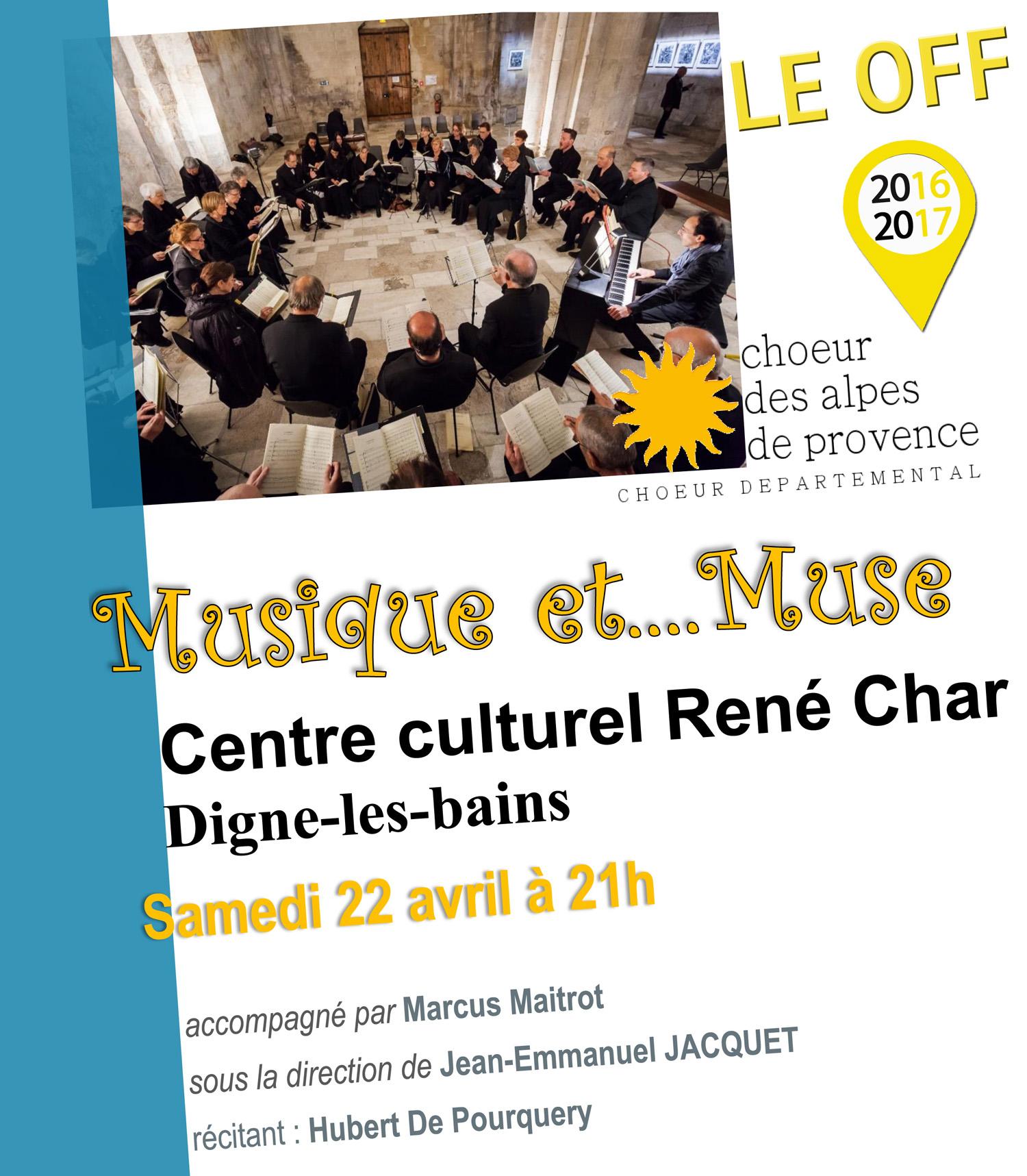 Le choeur départemental des Alpes de Provence en concert à Digne Samedi