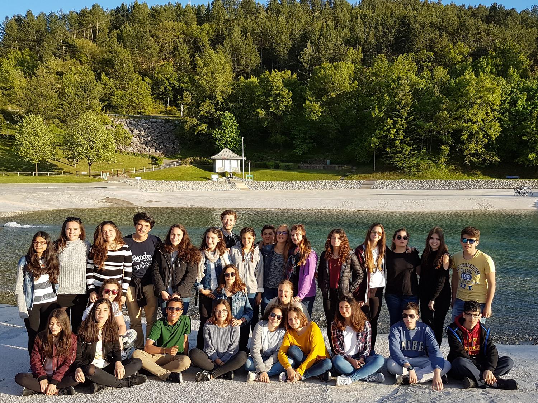 Le géoparc a accueilli une visite scolaire européenne