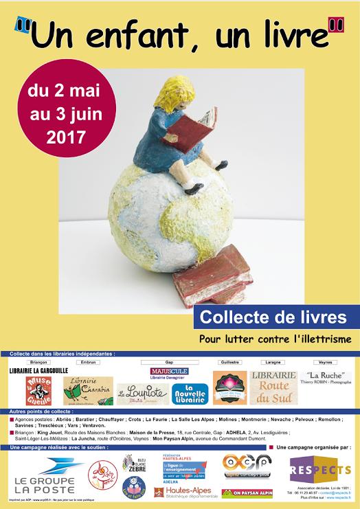 Opération un enfant un livre  dans les Hautes-Alpes !