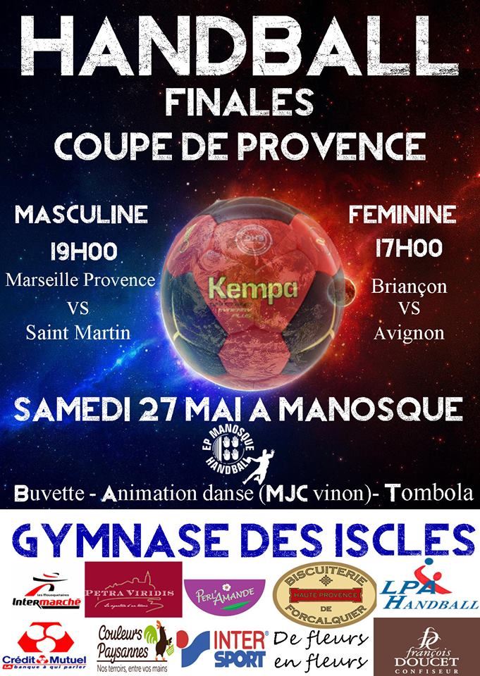 Manosque accueille les finales de la coupe de provence de Handball