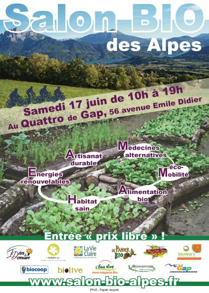 Le Quattro de Gap accueille le 1er Salon Bio des Alpes ce samedi.