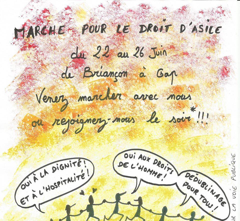 Briançon-Gap : ils vont marcher pour le droit d'asile