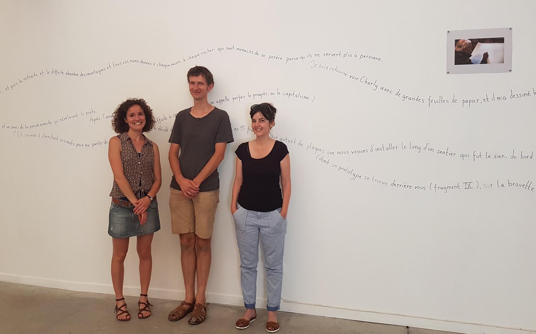 de gauche à droite : Guilia Pagneti - Till Roeskens et Amanda Robles