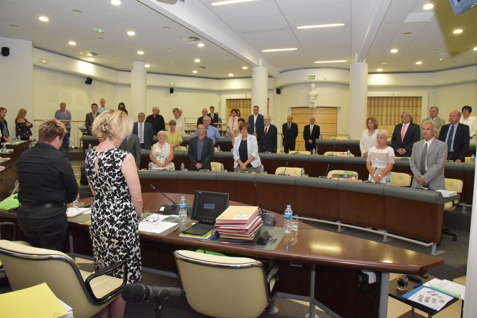 Beaucoup d'émotion au Conseil Départemental