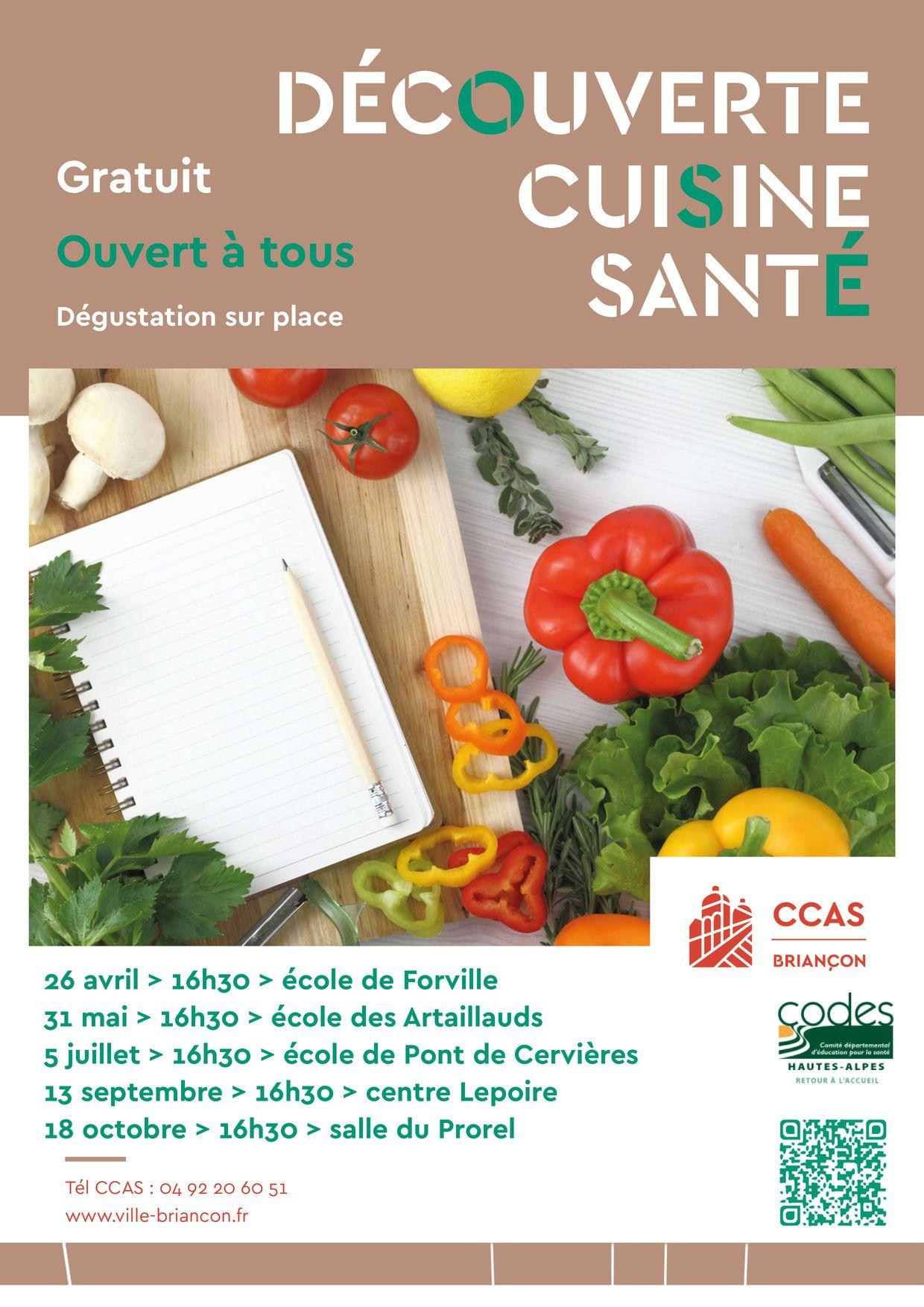 Un atelier cuisine-santé gratuit à Briançon