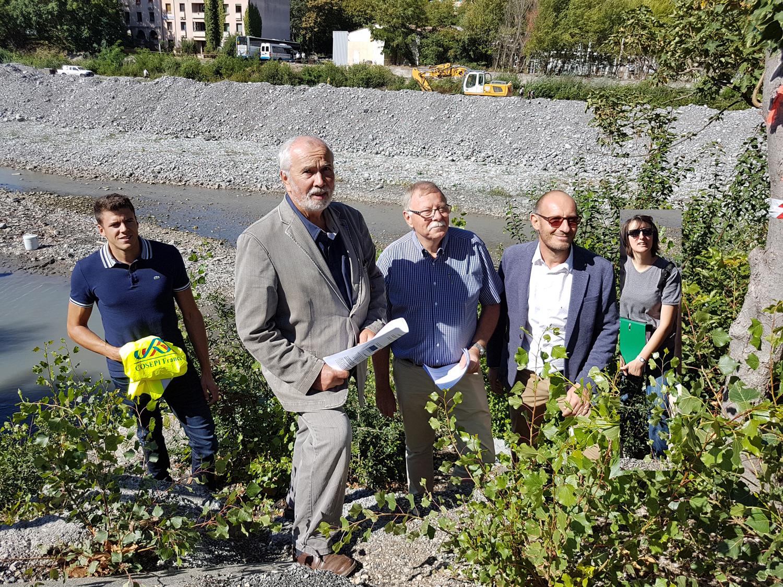 Les travaux d'aménagement des 4 seuils sur la Bléone ont débuté