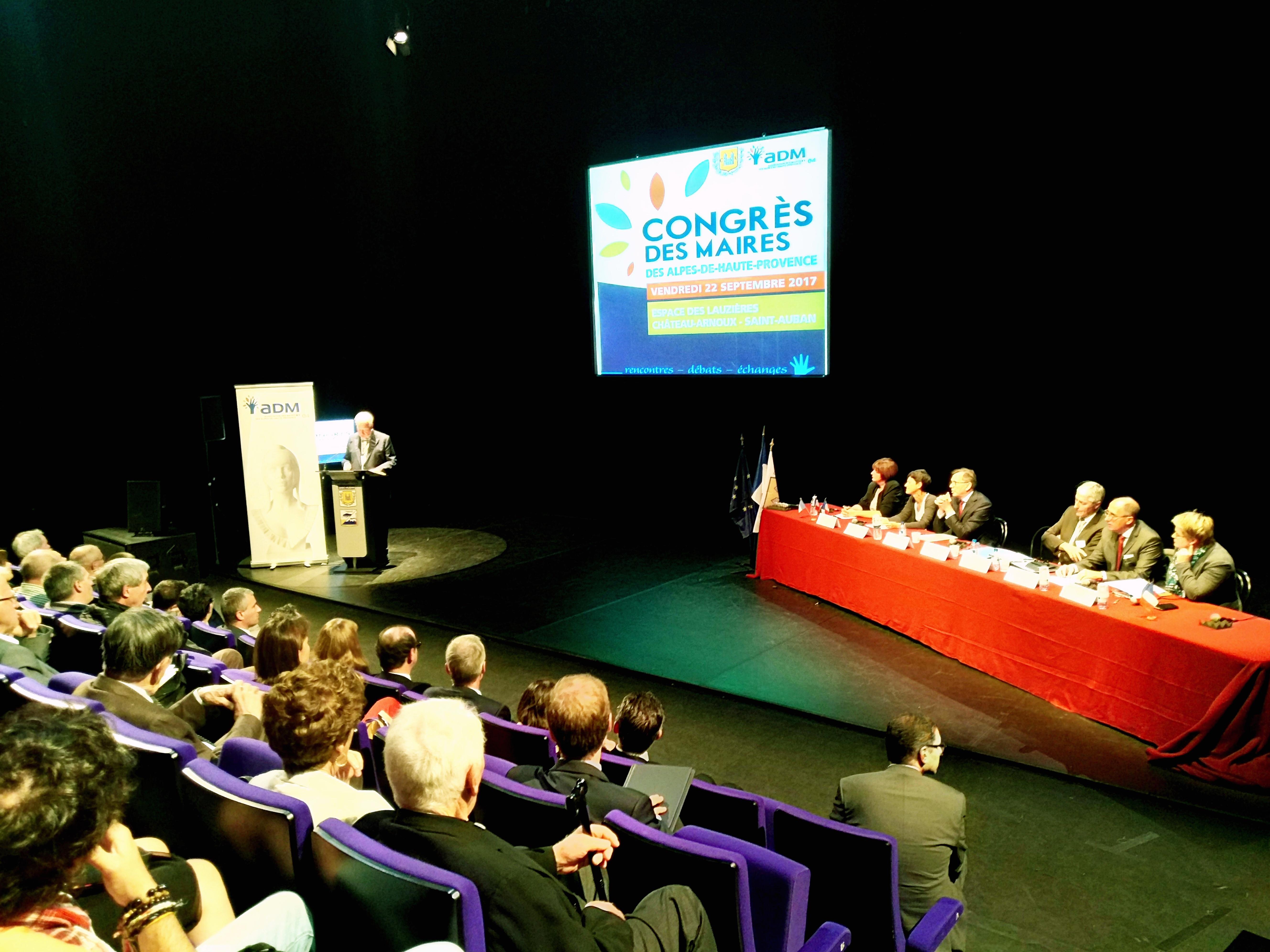 Succès pour le Congrès des Maires du 04 à Château-Arnoux !