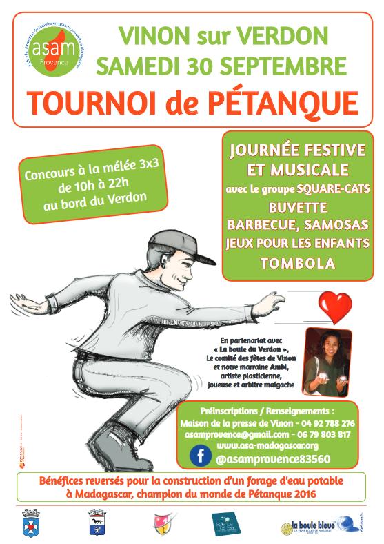 Vinon accueille un concours de pétanque solidaire samedi…