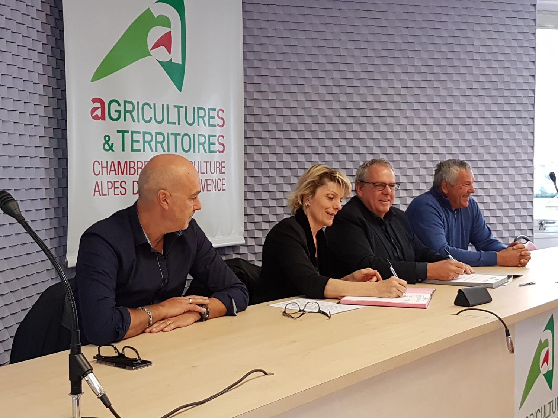 Un partenariat pour maintenir une agriculture dynamique dans le 04