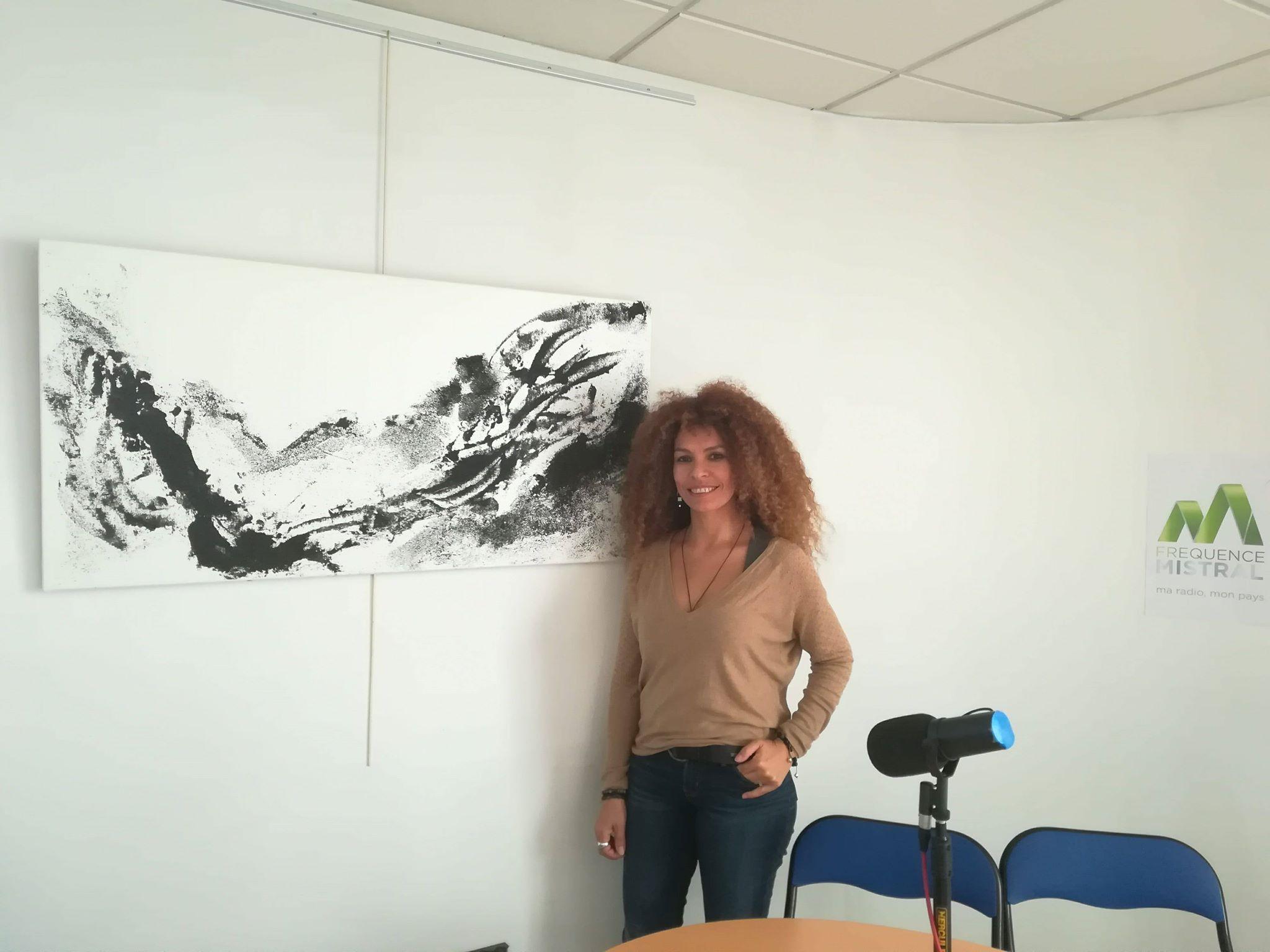 """De la série """"Terre"""", Sable volcanique sur toile, Vatnajökull, Yökulsarlan, Islande 2016, 60*120 cm"""