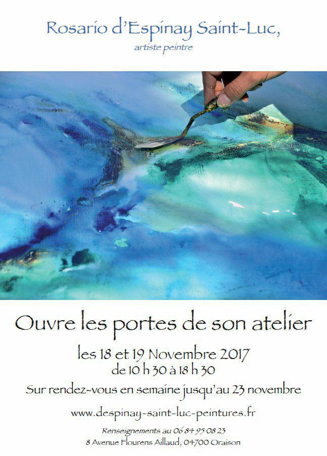 L'atelier de Rosario D'Espinay Saint-Luc sera ouvert ce week-end