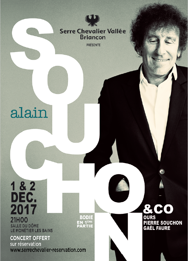 A Serre Chevalier, début de saison rime avec.. Alain Souchon !