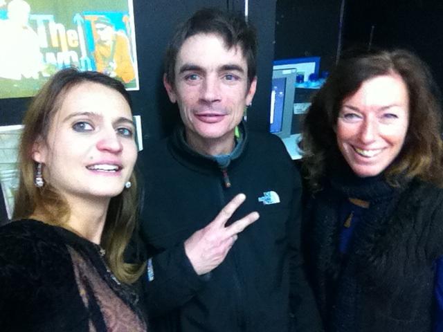 Mathieu (DJ Kermite) avec l'équipe Fréquence Mistral