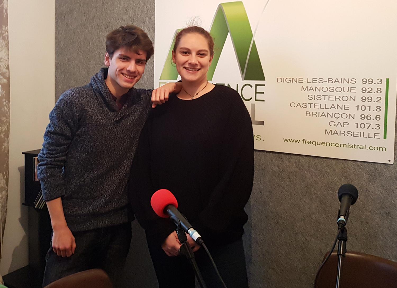 Julie et Benjamin réalisent bientôt leur émission sur la vie étudiante à Digne