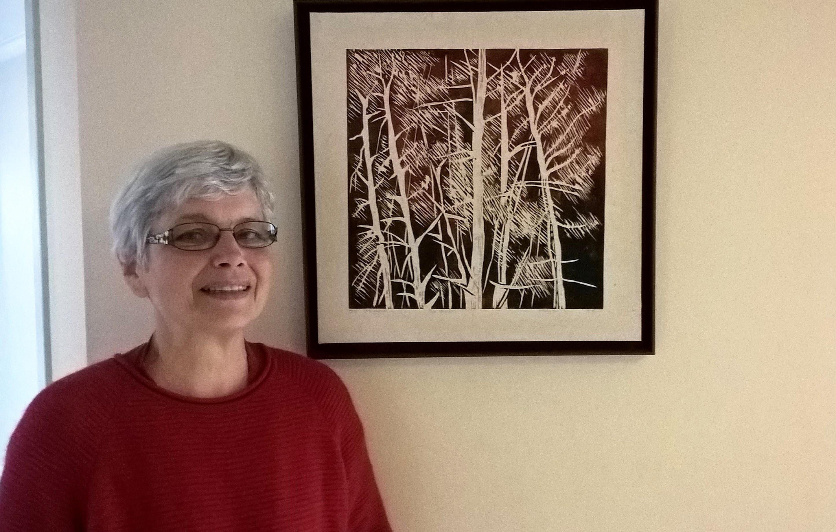 Elisabeth Salmon expose ses gravures dans nos studios