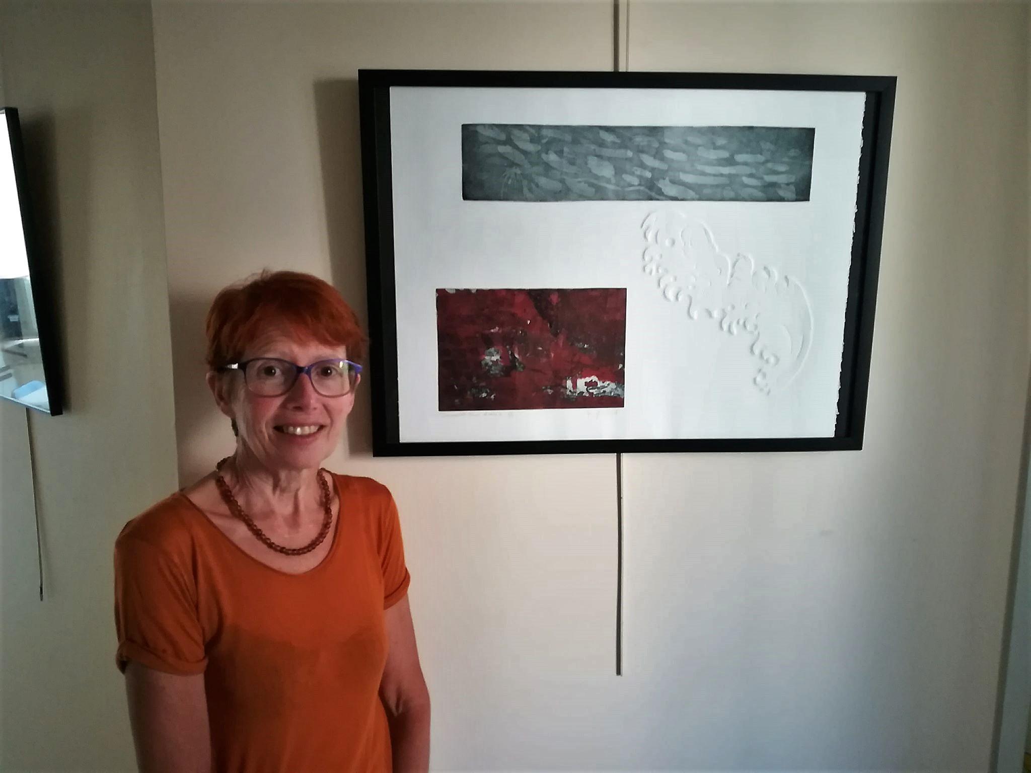 Les gravures de Maryline Viard sur les murs de Fréquence Mistral
