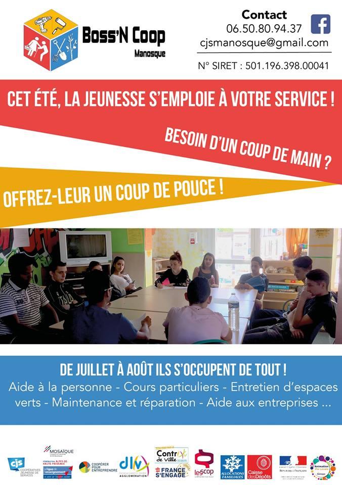 Boss'N Coop: la jeunesse manosquine vend ses services