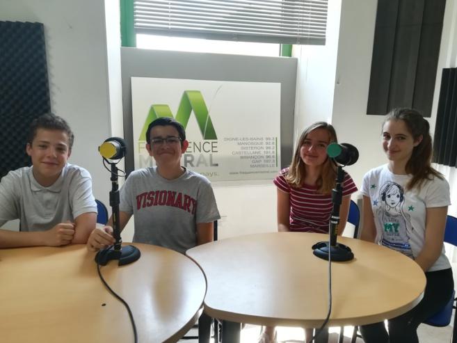 Fréquence Mistral a accueilli 4 jeunes Manosquins…