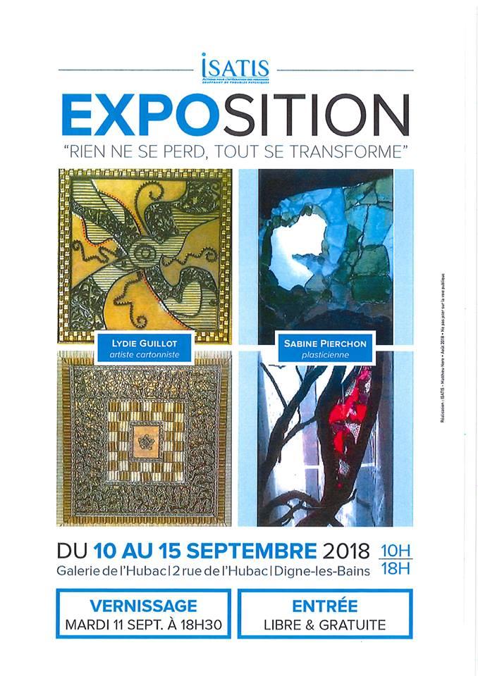 2 artistes exposent à la galerie de l'hubac du 10 au 15 septembre
