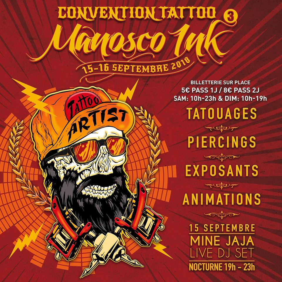 Le salon du tatouage à Manosque le week-end prochain !