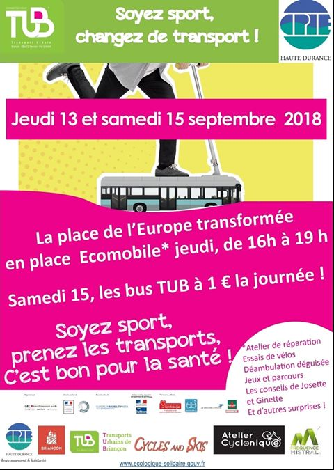 La place de l'Europe se transforme pour 1 journée à Briançon !