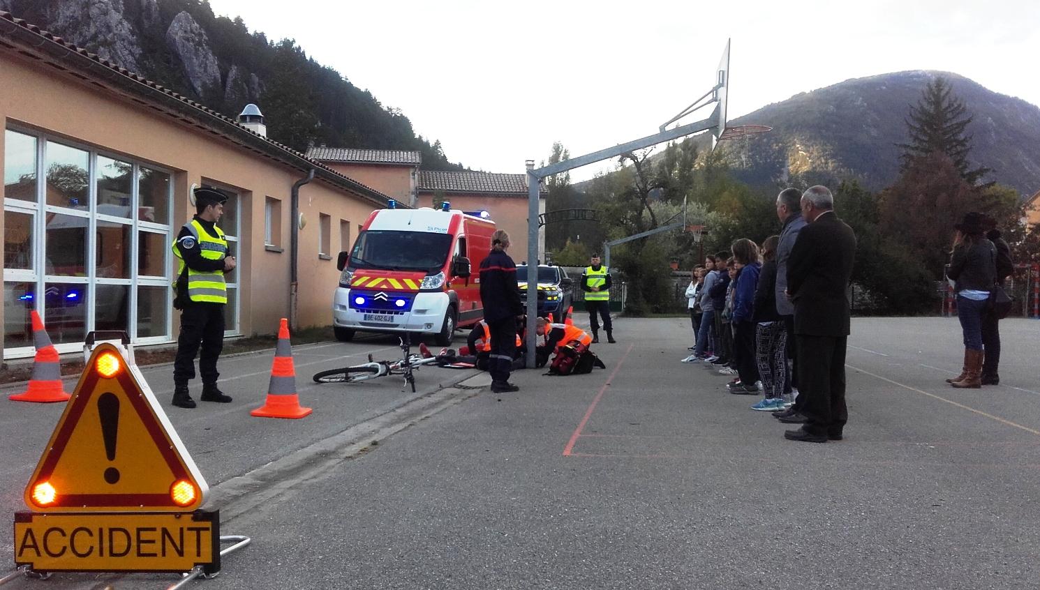 Les rencontres de la sécurité au collège du Verdon à Castellane
