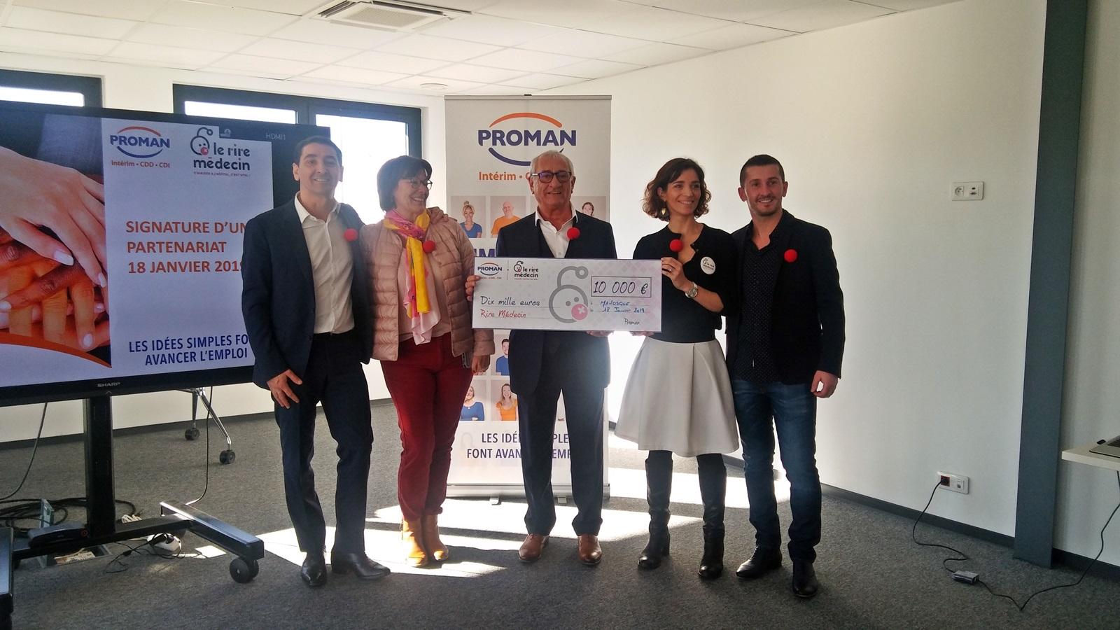 Proman soutient le Rire Médecin