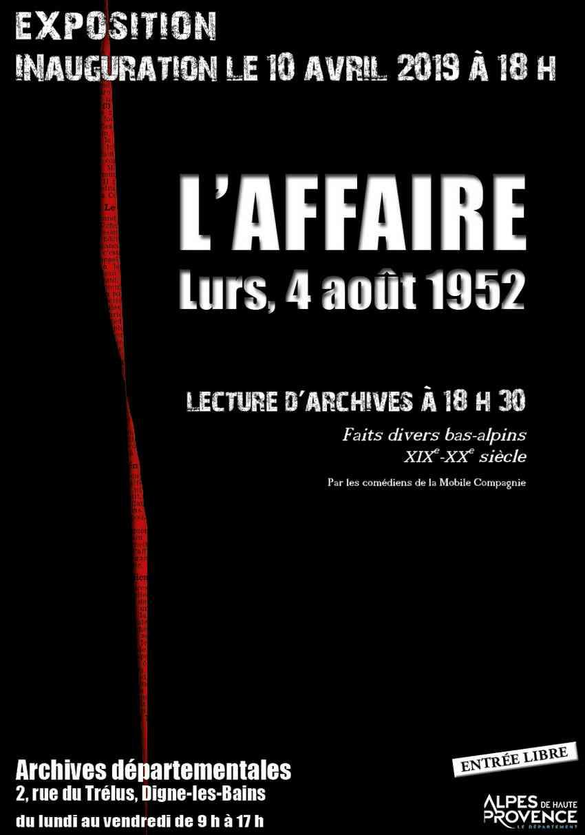 """Histoires d'Archives actualité du moment et """"L'affaire"""" Dominici"""
