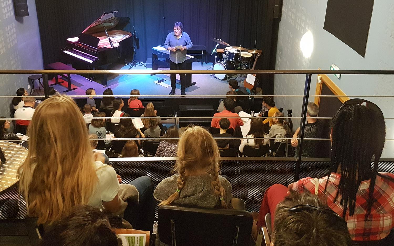 Photo lors du concert du 23 mars des Rencontres départementales du conservatoire