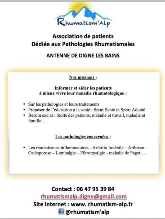 Une association pour combattre les maladies rhumatismales