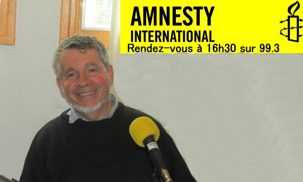 Pour la dignité, un rendez-vous mensuel sur les Droits humains avec Amnesty international