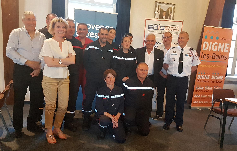 Une convention pour les pompiers, Digne et son agglomération