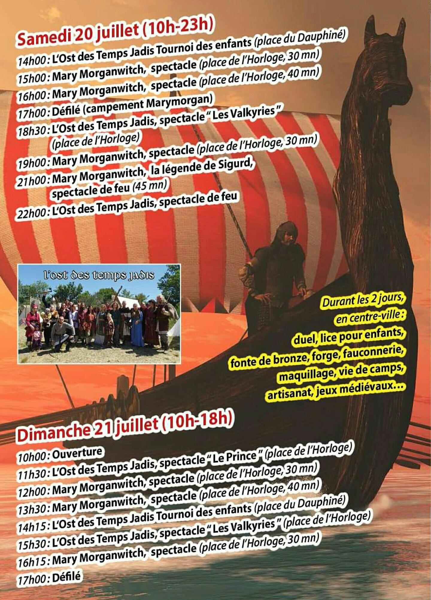 Les Vikings envahissent Sisteron les 20 et 21 juillet !