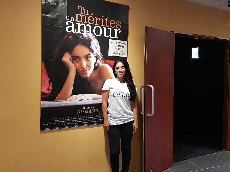 Hafsia Herzi présente son film en avant-première