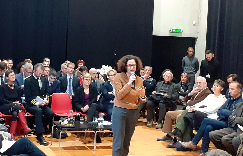 Emmanuelle Wargon en visite au Théâtre Durance !