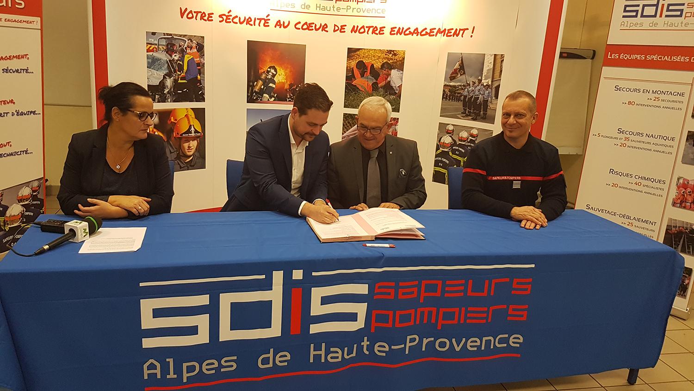 Le SDIS 04 et PROMAN partenaires