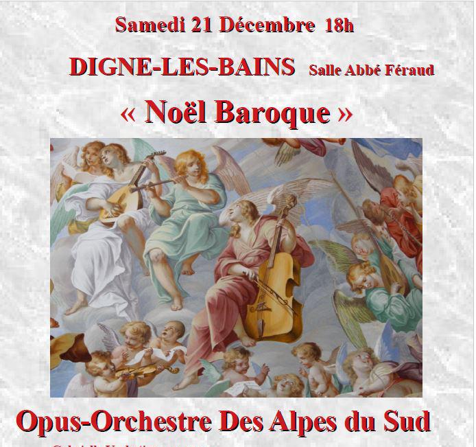 """Concert """"Noël baroque"""" avec Opus Orchestre des Alpes du Sud"""
