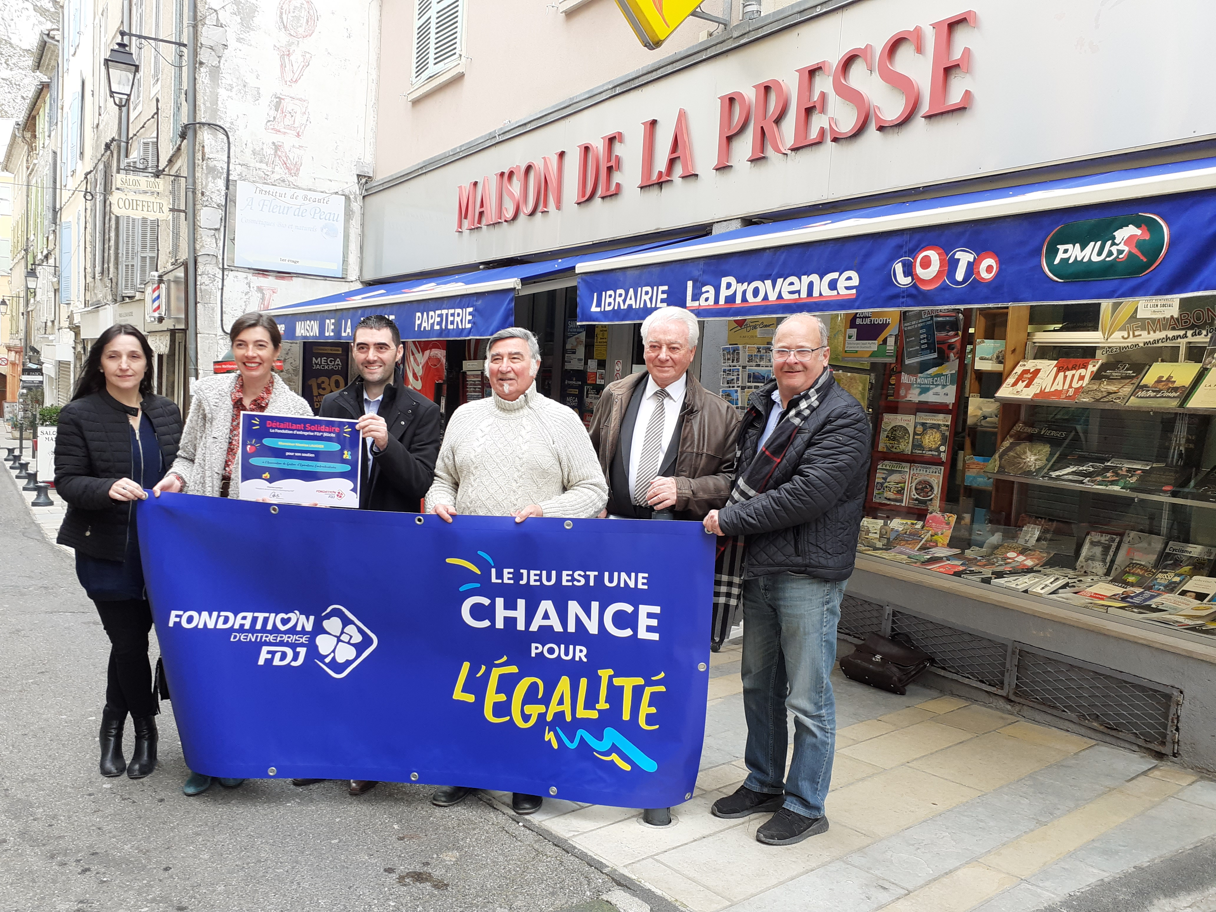 La Française des jeux soutient des actions solidaires à Sisteron