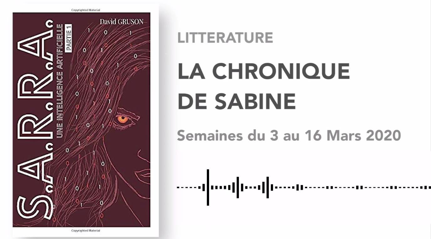 La Chronique de Sabine du 7 Mars 2020