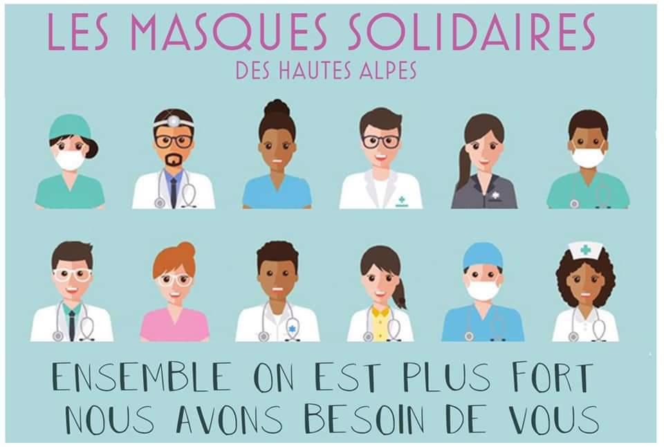 Des couturières prêtes à en découdre avec ce virus : le collectif masques solidaires 05