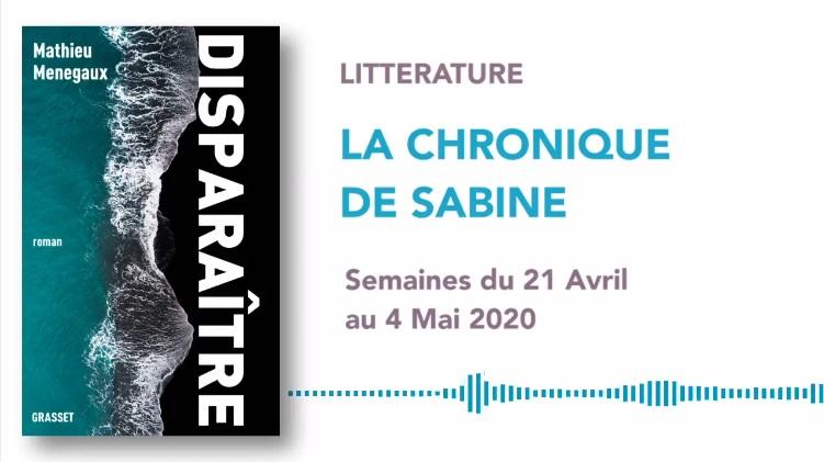 La Chronique de Sabine du 25 Avril 2020