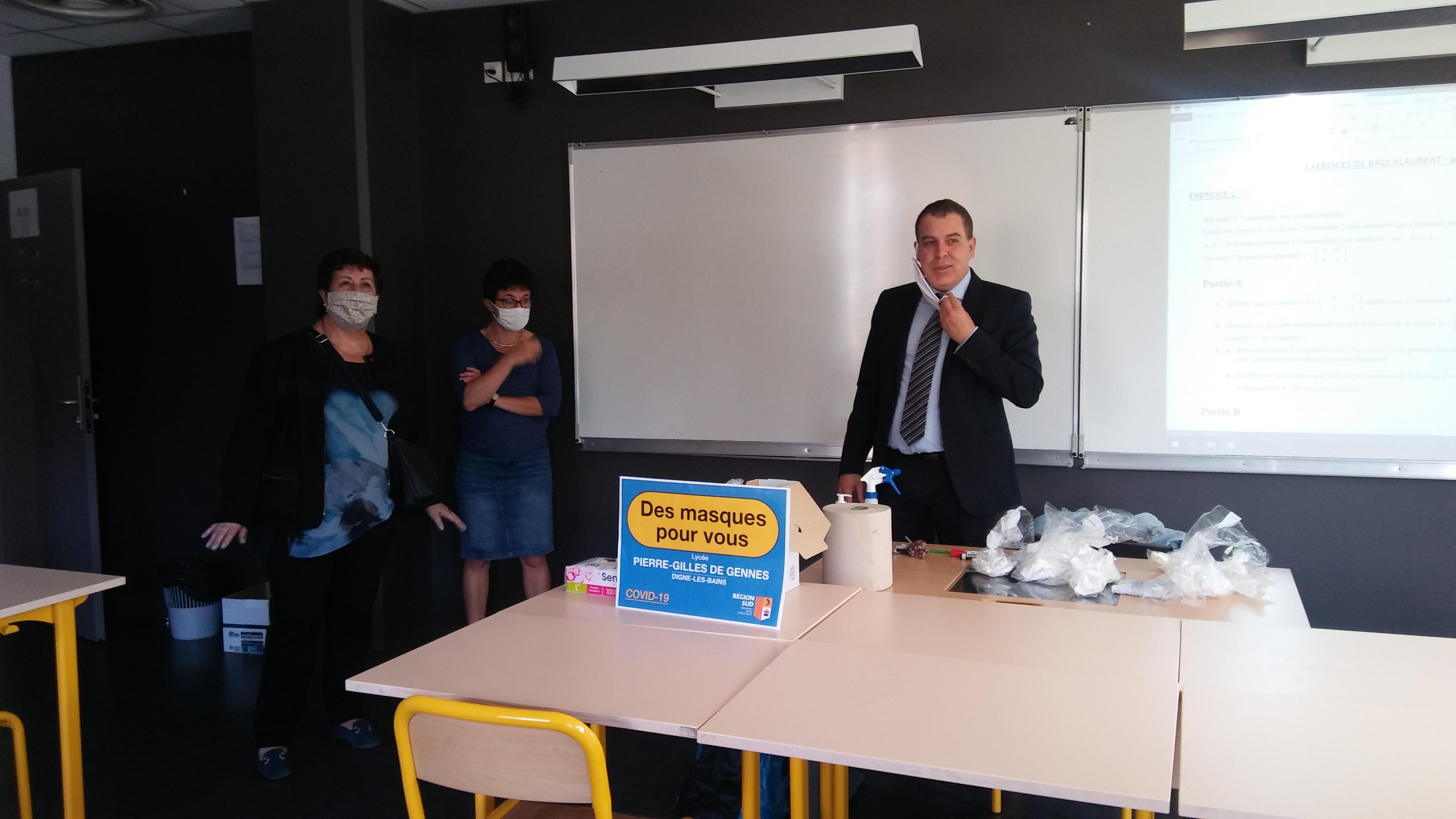 La Région Sud offre des masques de protection aux lycéens