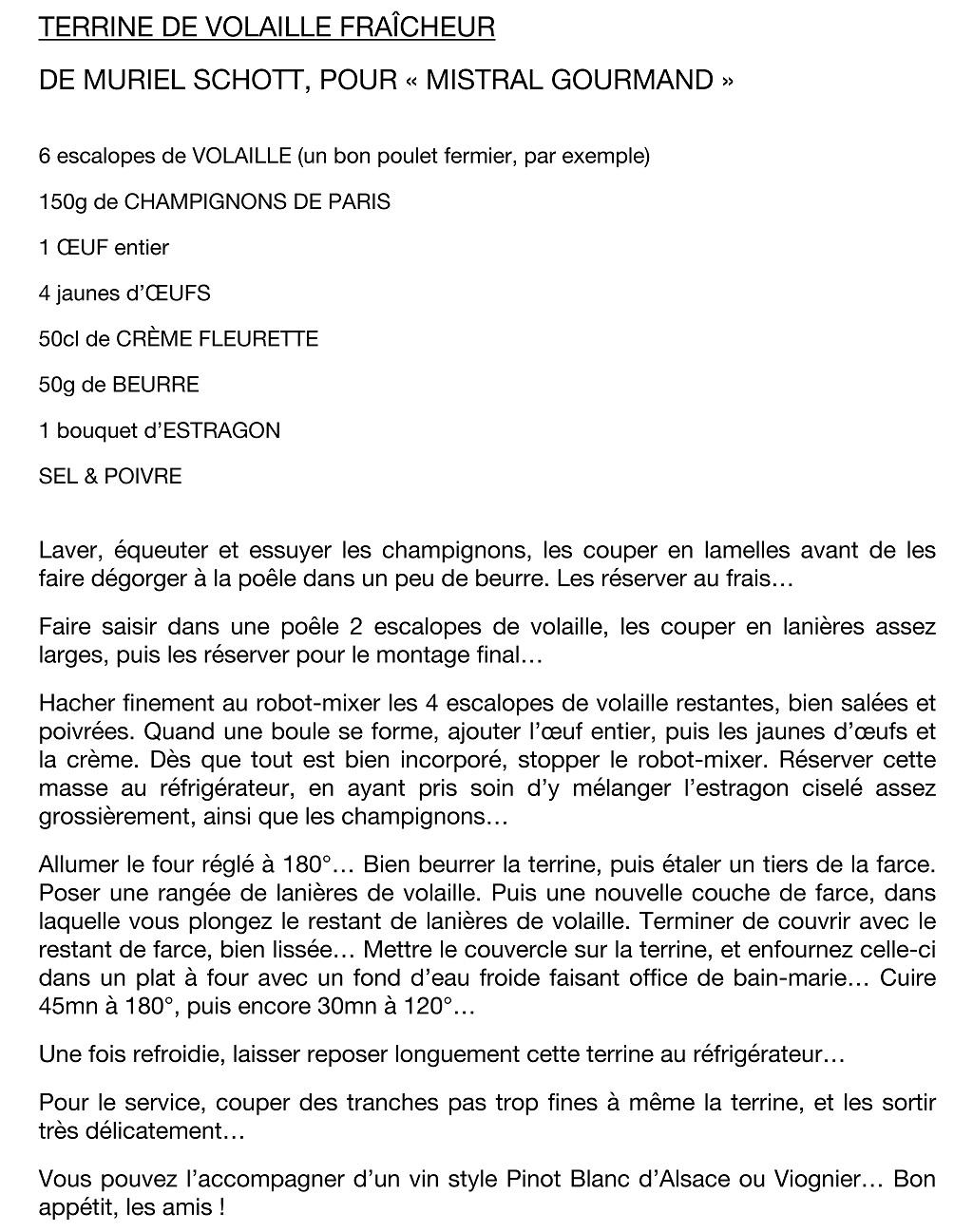 mistral gourmand par Mumu et Pierrot Schott # 3