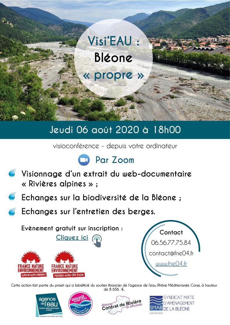 Visi'eau conférence de France Nature Environnement ce jeudi