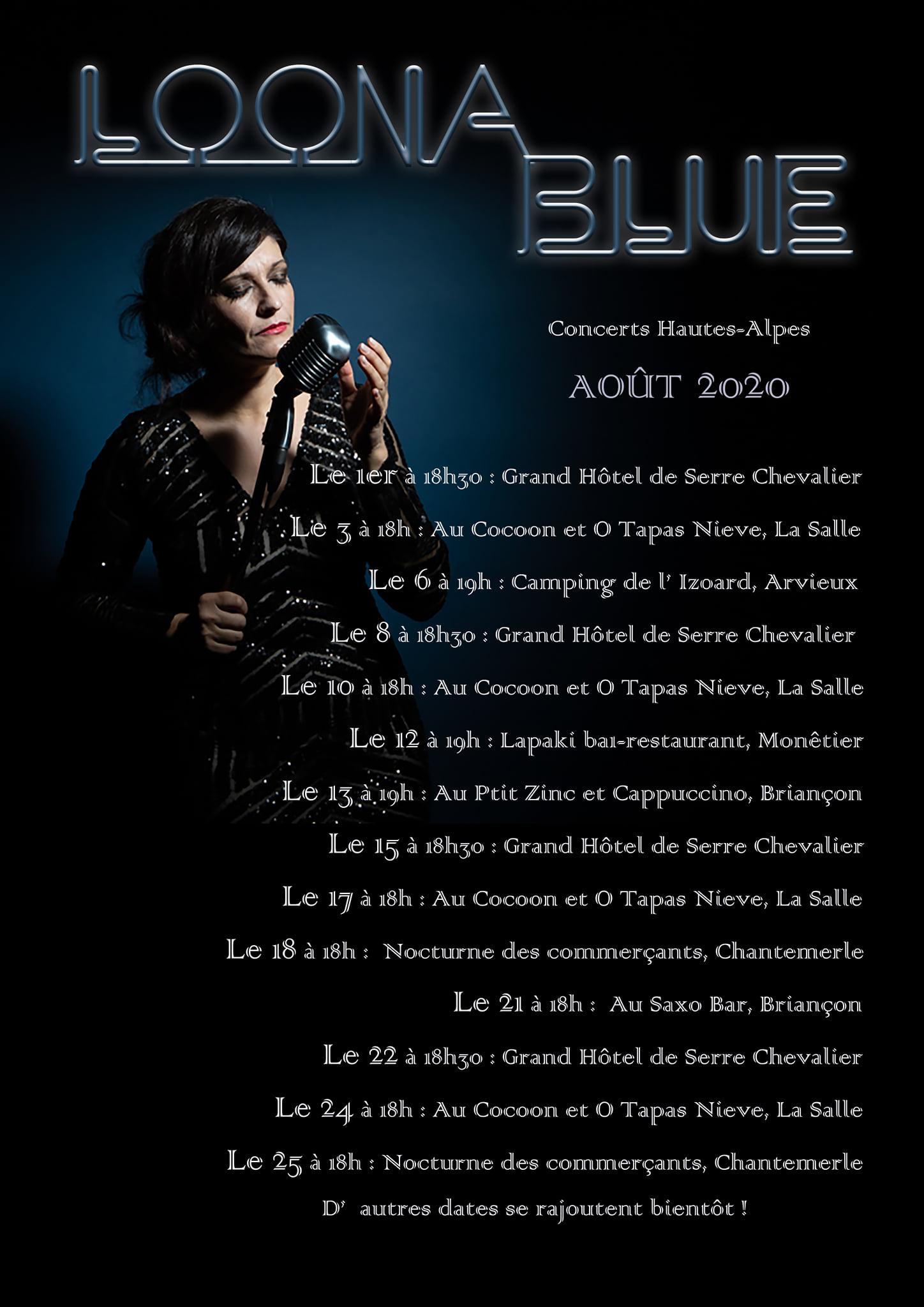 Loona Blue et son cocktail vocal à Briançon !