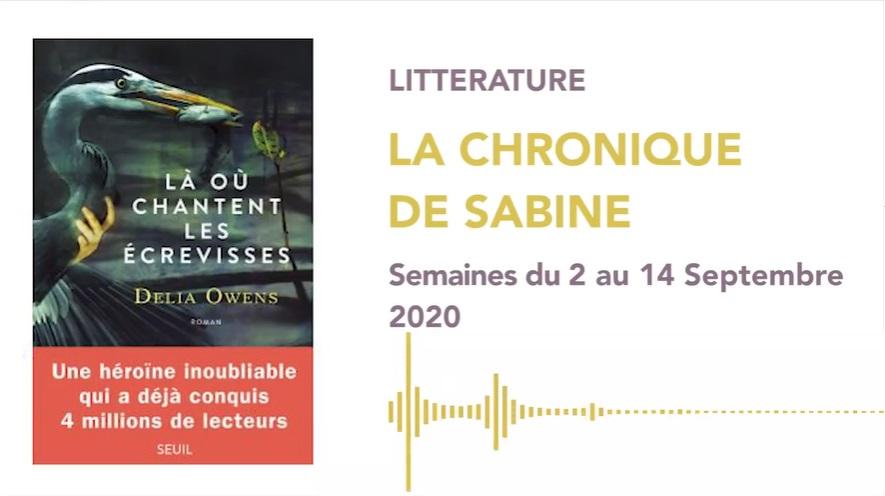 La Chronique de Sabine du 12 Septembre 2020