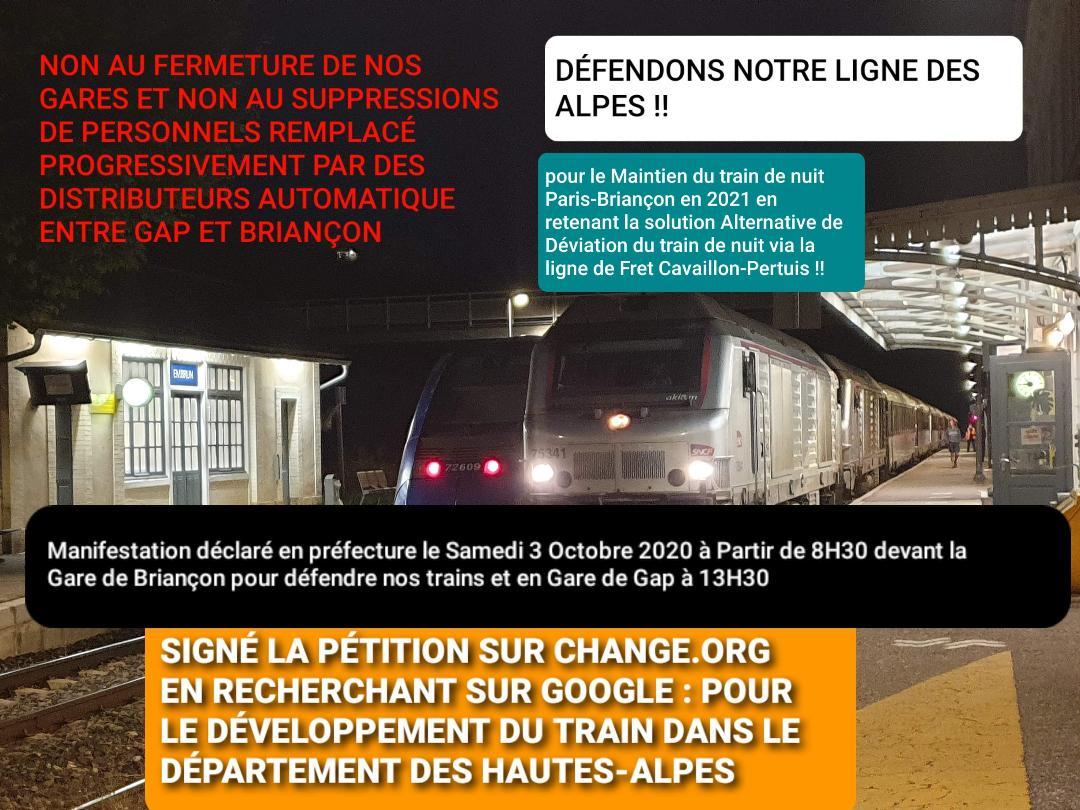 Une manifestation en faveur du train ce week-end