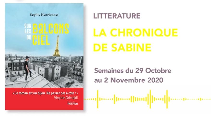 La Chronique de Sabine du 24 Octobre 2020