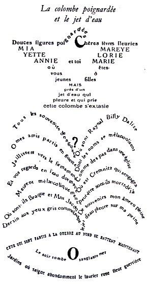 la douceur de la poesie de Guillaume Apollinaire